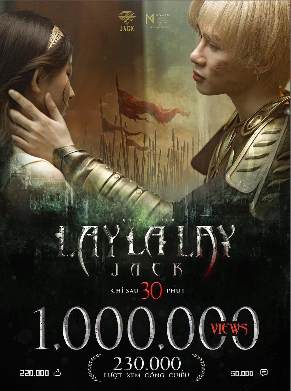 MV 'LAYLALAY' của Jack sau ít giờ phát hành: Ảm đạm hơn 'Đom Đóm', liệu sau 1 ngày có thay đổi cục diện? Ảnh 2