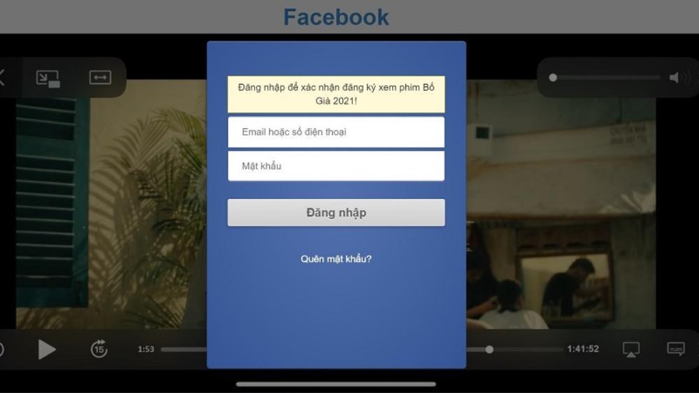 Mời gọi xem Bố Già bản 'Full HD', chiêu trò mới để đánh cắp tài khoản Facebook Ảnh 2