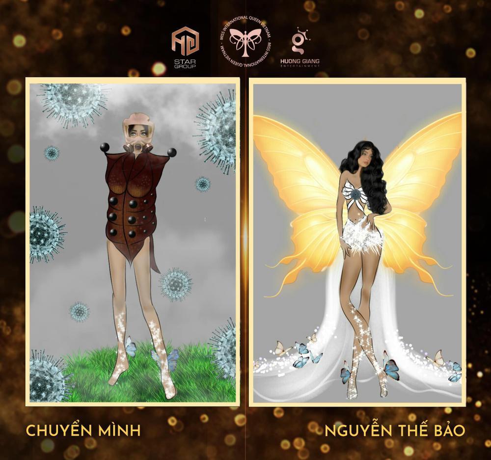Thiết kế trang phục dân tộc cho Trân Đài bị tố 'ăn cắp': Thí sinh trộm bản vẽ từ Miss Universe Vietnam? Ảnh 12