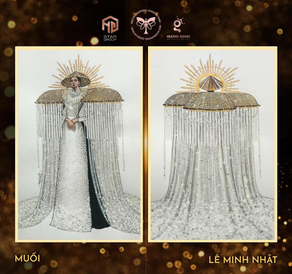 Thiết kế trang phục dân tộc cho Trân Đài bị tố 'ăn cắp': Thí sinh trộm bản vẽ từ Miss Universe Vietnam? Ảnh 9