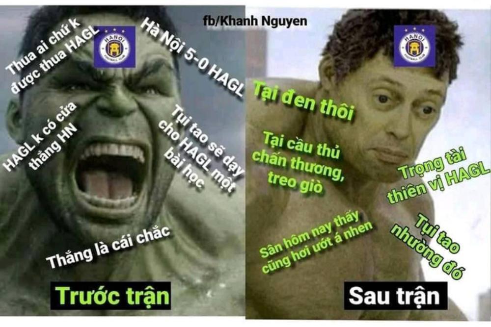 Fan HAGL chế ảnh cà khịa: 'Hà Nội FC chỉ là... hổ nhồi bông' Ảnh 1