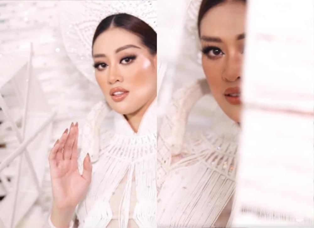 'Kén Em' lộ diện, fan khen National Costume của Khánh Vân tại Miss Universe không kém cạnh đối thủ nào Ảnh 3