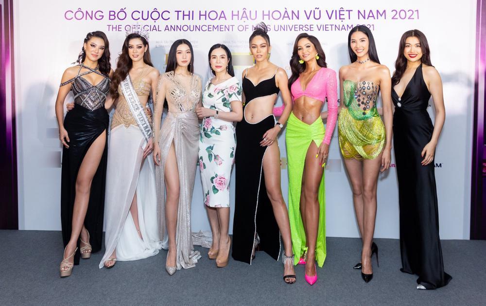 H'Hen Niê - Hoàng Thùy - Thúy Vân - Kim Duyên rạng rỡ đến cổ vũ Khánh Vân chinh chiến Miss Universe 2020 Ảnh 2