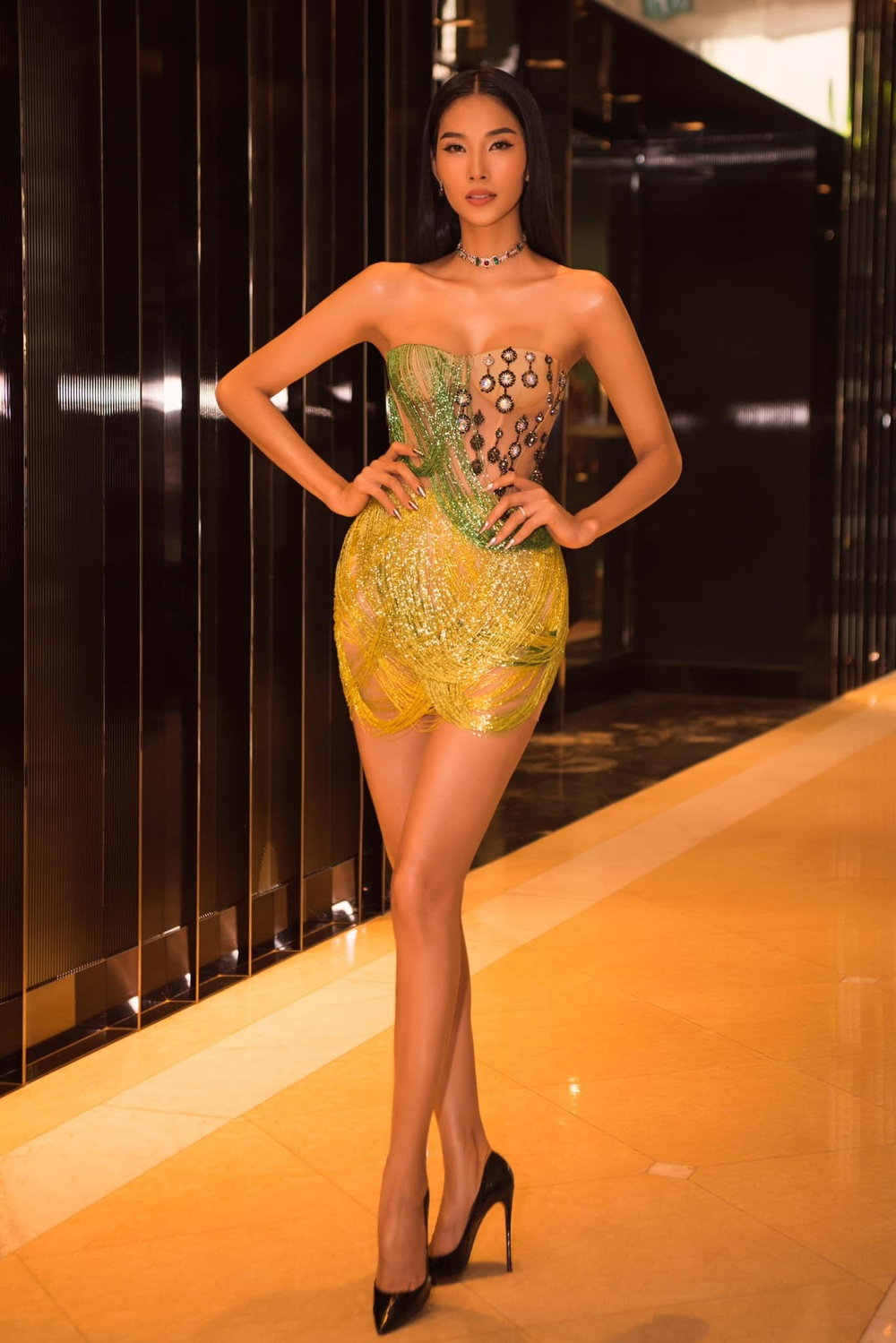 H'Hen Niê - Hoàng Thùy - Thúy Vân - Kim Duyên rạng rỡ đến cổ vũ Khánh Vân chinh chiến Miss Universe 2020 Ảnh 12