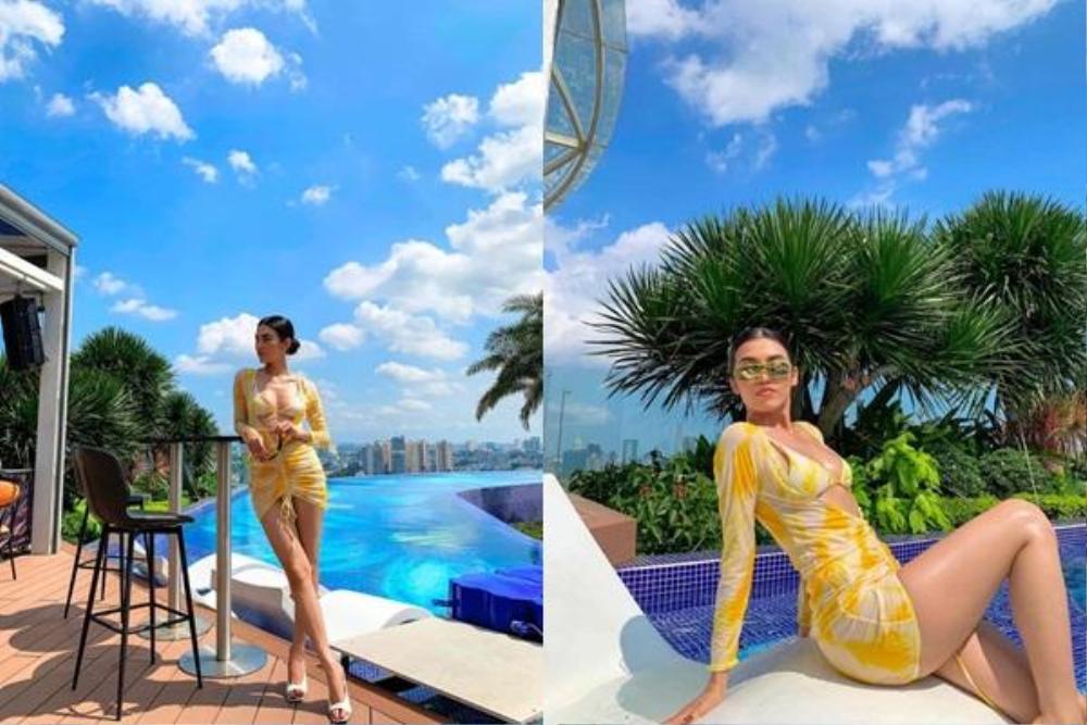 Hậu chia tay tỷ phú 73 tuổi, hotgirl 9X Cổ Ngân diện bikini 'bốc lửa', 'đốn tim' mọi ánh nhìn Ảnh 3