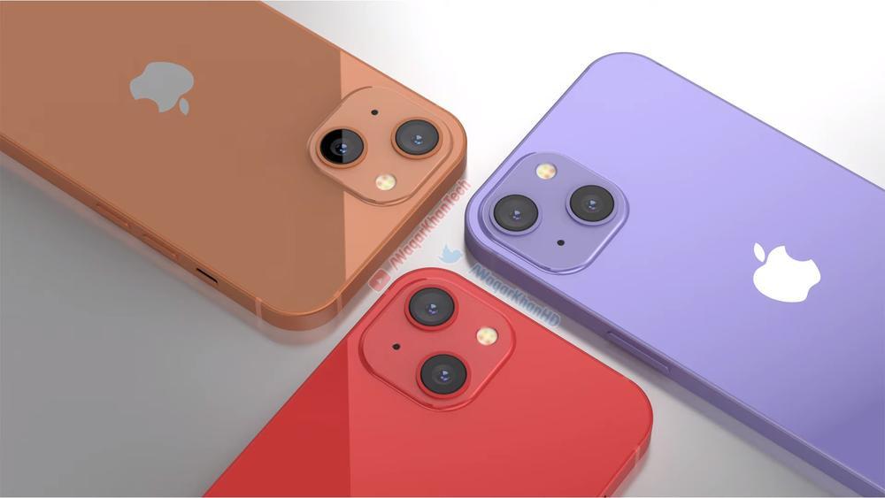 Mê mẩn với loạt iPhone 13 xanh - đỏ - tím - cam, camera xếp chéo đầy lạ lẫm Ảnh 4