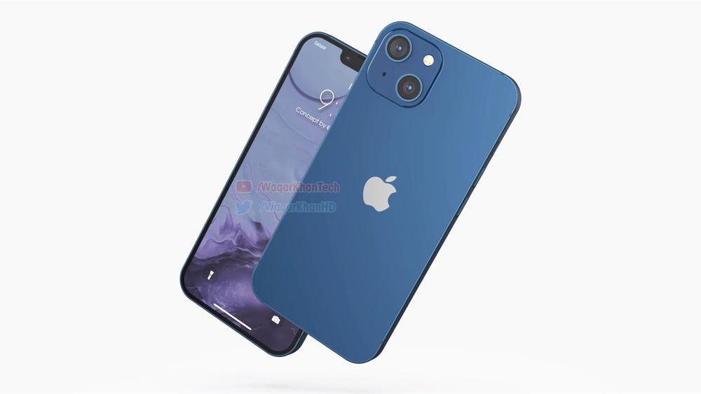 Mê mẩn với loạt iPhone 13 xanh - đỏ - tím - cam, camera xếp chéo đầy lạ lẫm Ảnh 1
