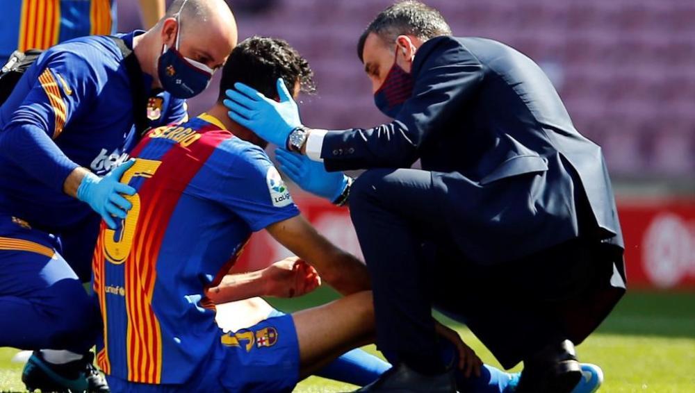 Busquets bị gãy xương hàm trong trận đại chiến Barca vs Atletico Ảnh 2