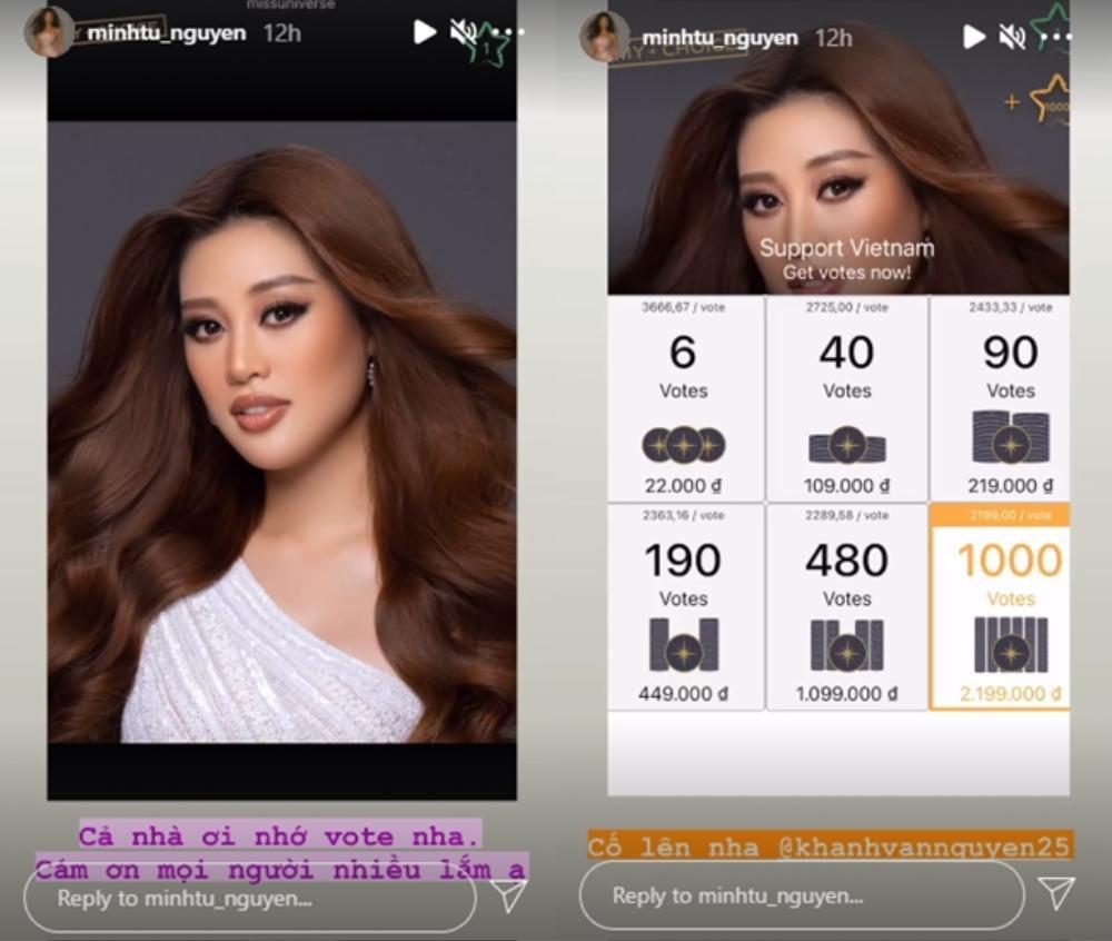 H'Hen Niê mạnh tay chi 20 triệu, Minh Tú ủng hộ 1000 vote để đưa Khánh Vân chắc suất Top 21 Miss Universe Ảnh 5