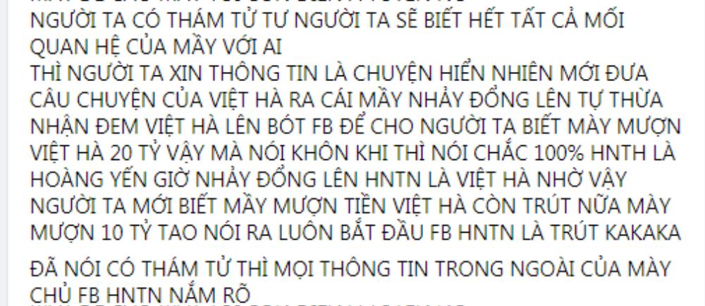 Huỳnh Ngọc Thiên Hương lại tố bà Phương Hằng đi mượn 20 tỷ, lên giọng thách thức: 'Đố em bắt được đó' Ảnh 2