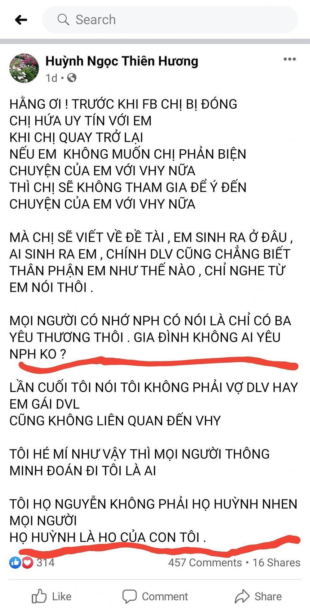 Bà Phương Hằng tiết lộ tin bất ngờ về Huỳnh Ngọc Thiên Hương: 'Tiền án tiền sự của nó nhiều hơn tiền mặt' Ảnh 1
