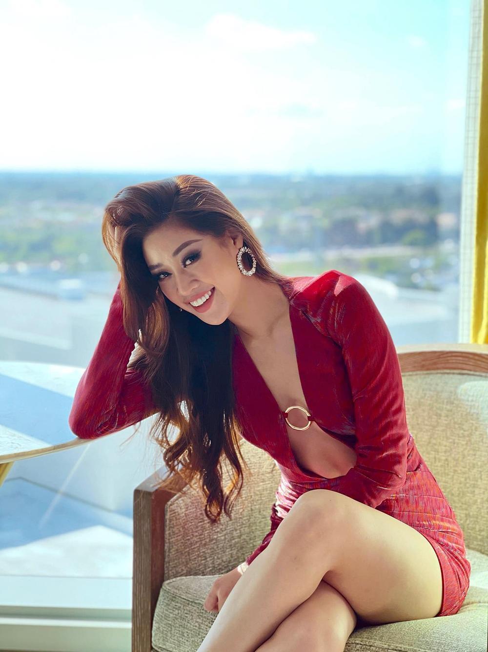 Hoa hậu Khánh Vân gây 'tê liệt' khi liên tục khoe rãnh bụng nét căng và vòng eo nổi múi Ảnh 7