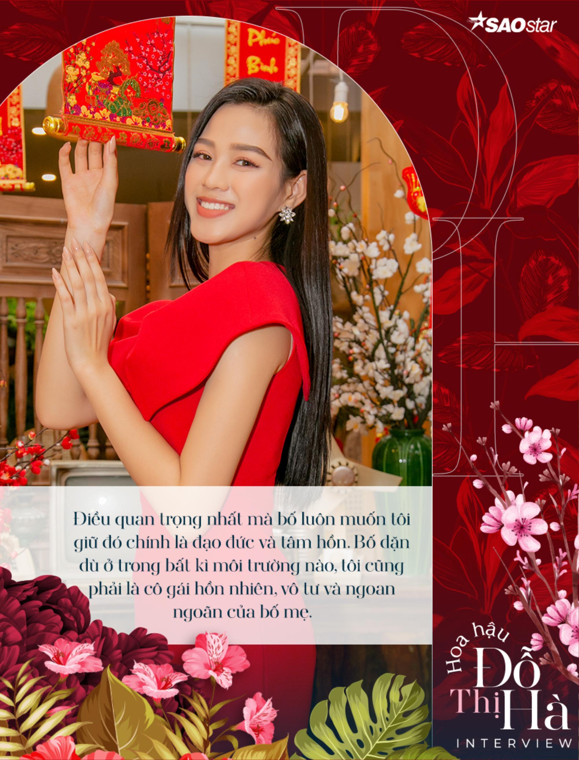 Hoa hậu Việt Nam Đỗ Thị Hà: 'Nếu có một điều ước, tôi chỉ mong bố ngủ ngon và bớt lo lắng cho tôi' Ảnh 11
