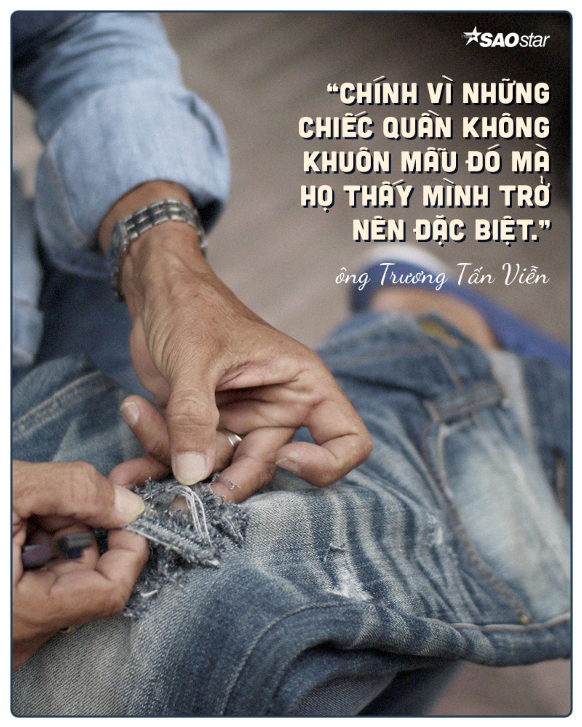 Chuyện nghề buồn vui của người đàn ông 30 năm làm nghề xé quần jean ở Sài Gòn Ảnh 8