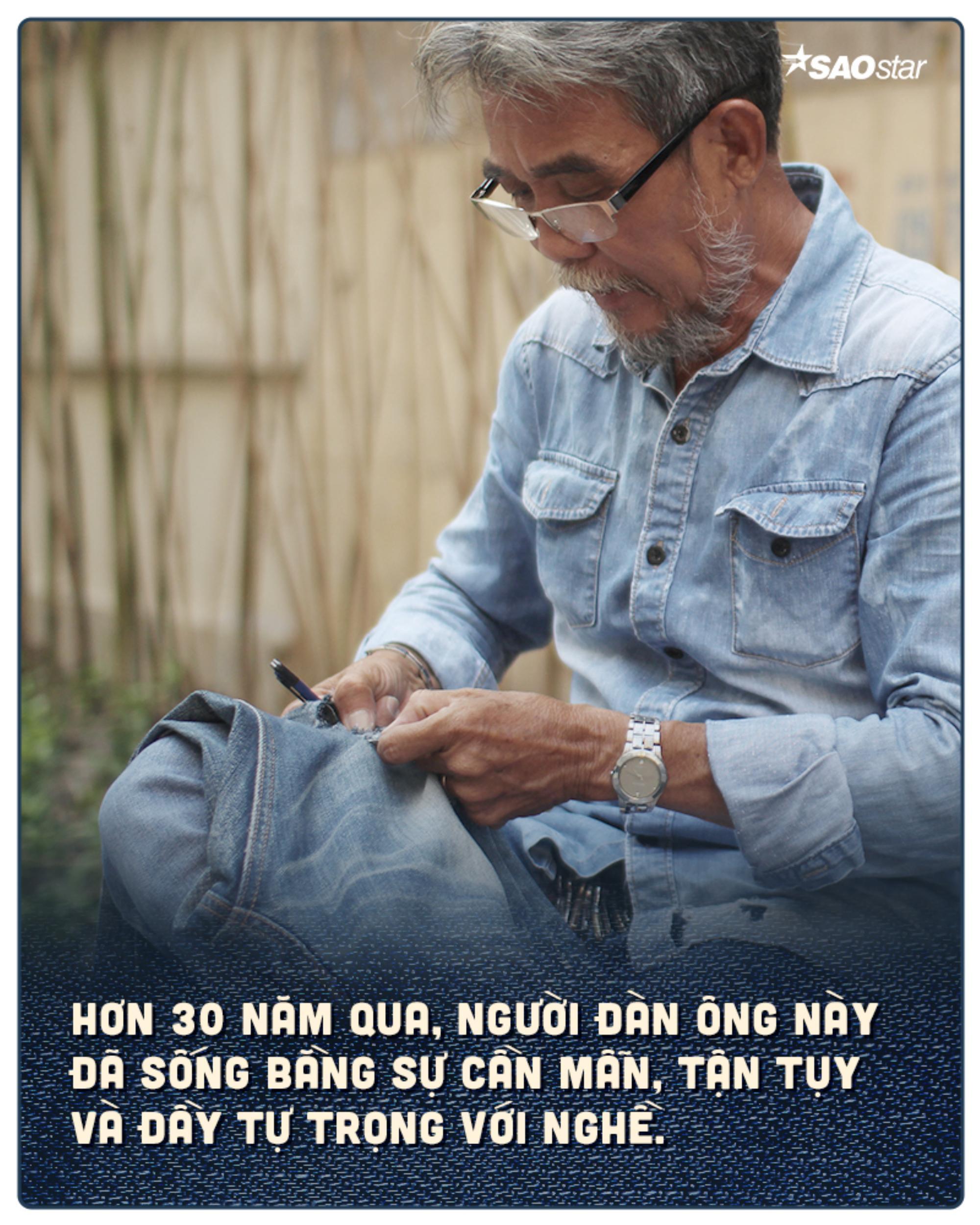 Chuyện nghề buồn vui của người đàn ông 30 năm làm nghề xé quần jean ở Sài Gòn Ảnh 4