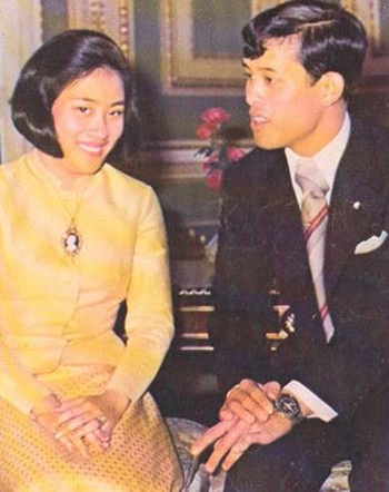 Nhà vuaVajiralongkorn và người vợ đầu Soamsawali Kitiyakara. Ảnh:Wordpress