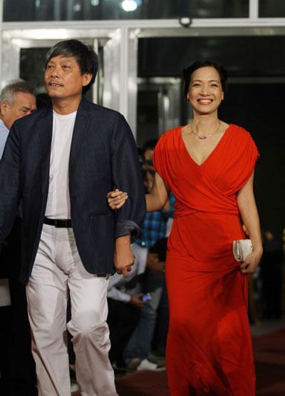 NSND Lê Khanh cùng chồng là đạo diễn đạo diễn Phạm Việt Thanh.