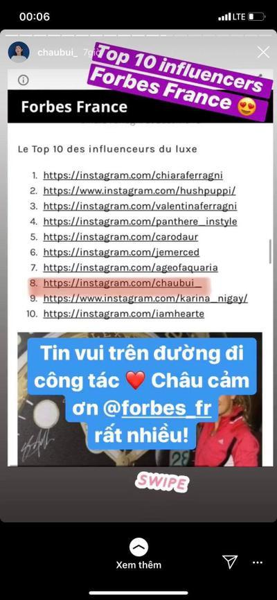 Chau Bui Vao Top 10 Nhan Vật Co Tầm Áº£nh Hưởng Thời Trang Của Forbes