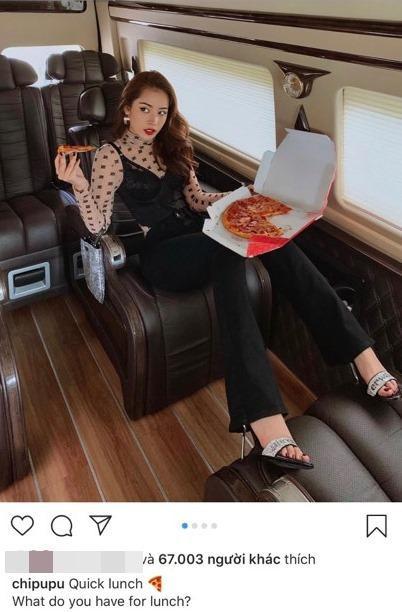 Chỉ cần tạo dáng với Pizza, Chi Pu đã có ngay 1 bữa trưa siêu thần thái ảnh 4