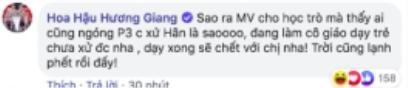 """Bên dưới phần bình luận, Hương Giang cũng hé lộ việc mình sẽ sớm trở lại """"xử"""" tiểu tam khi kết thúc vai trò làm cô giáo dạy trẻ."""