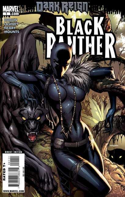 Shuri với vai trò Black Panther trong truyện tranh Marvel.