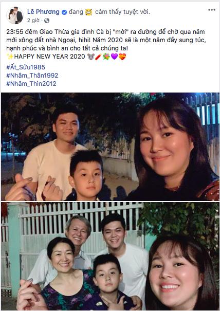 Gia đình diễn viên Lê Phương