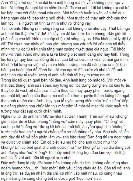 Nguyên văn chia sẻ của NS Xuân Hương.