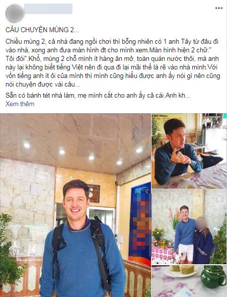 Bi hài chuyện khách Tây du lịch Việt Nam vào dịp Tết: Đánh liều vào nhà dân xin ăn vì hàng quán đóng cửa ảnh 0