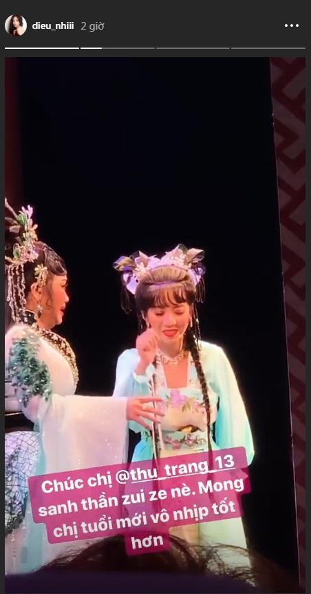 Được dịp chúc sinh nhật nhưng Diệu Nhi chẳng những mong Thu Trang tuổi mới hát sẽ vào nhịp hơn…