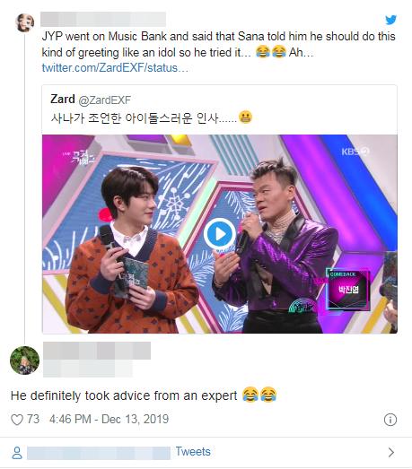 Park Jin Young trở thành 1 Idol chuyên nghiệp và đáng yêu hơn nhờ lời khuyên này của Sana ảnh 3