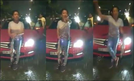 Một số ảnh Trường Giang tại vụ va chạm giao thông cắt từ clip.