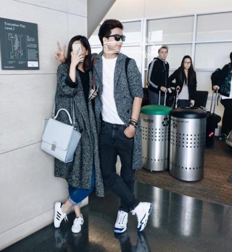 Bích Phương và người yêu tin đồn check-in tại sân bay.