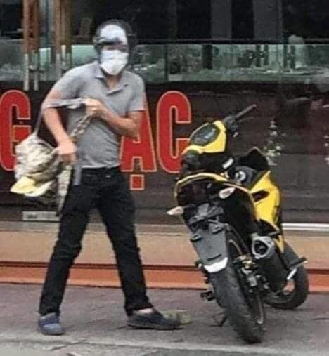 Chân dung nghi phạm cướp tiệm vàng ở Quảng Ninh.