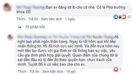 Cô T.D - phó trưởng khoa Xuất bản trả lời 1 bình luận của SV.