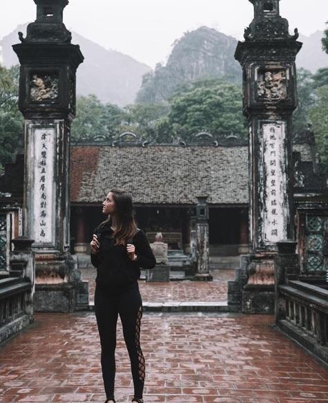 Alford trong chuyến du lịch tới Ninh Bình. Ảnh: Instagram