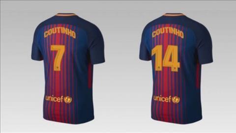 Coutinho sẽ mặc áo số 7 hoặc 14.