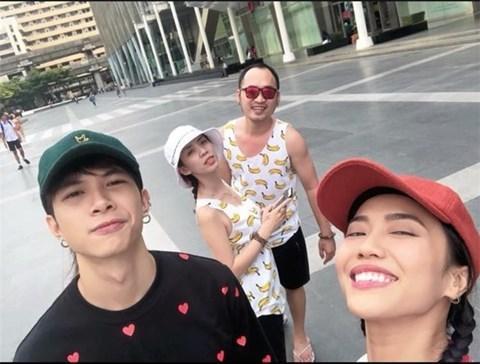 Anh Tú - Diệu Nhi trong chuyến du lịch Thái Lan hồi đầu tháng 3/2018.