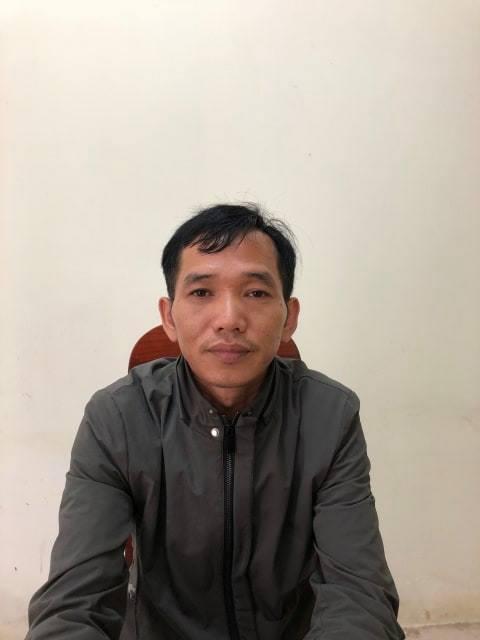 Tài xế Phú tại cơ quan công an.