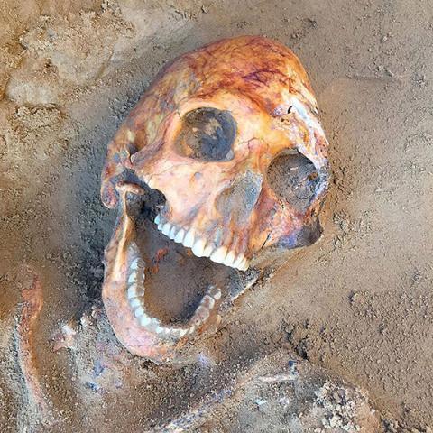 Bộ xương nam 2.000 năm tuổi được khai quật tại tỉnh Astrakhan(Nga)