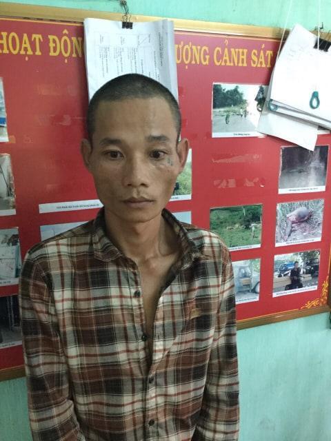 Nghi can Hùng là người lái xe chở gỗ lậu dương tính với ma túy. Ảnh: báo VTC News