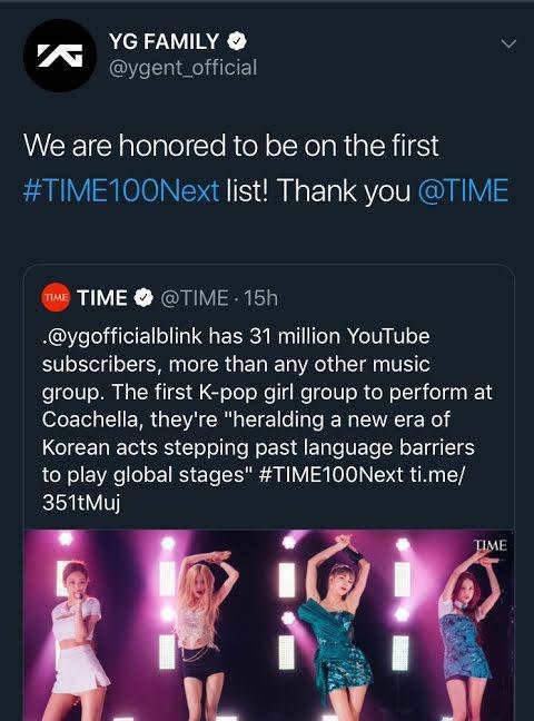Bài đăng ban đầu của YG.