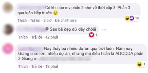 Một số bình luận của fan mong ngóng sự trở lại tiếp theo của chuỗi dự án #ADODDA từ Hương Giang.