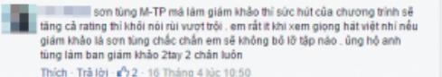 Những ý kiến hào hứng khi Sơn Tùng M-TP được dự đoán sẽ ngồi ghế nóng Giọng hát Việt nhí.