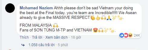 Một CĐV từ Malaysia bình luận.