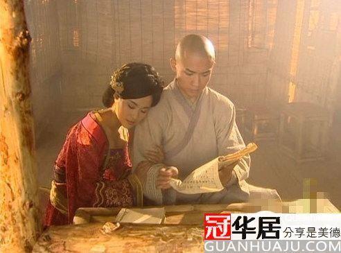 """Tiết Hoài Nghĩa và Võ Tắc Thiên từng có khoảng thời gian """"yêu đương"""" trong chùa. Ảnh:guanhuaju"""