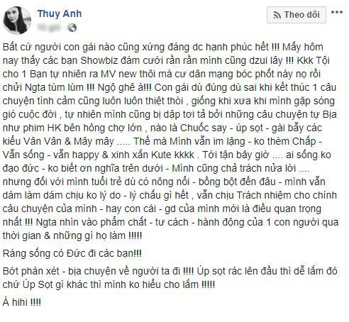 Status của Thụy Anh