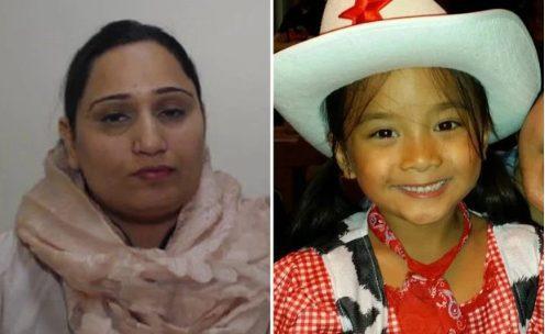 Sobia Aftar (trái) đã gây tai nạn khiến cô bé 10 tuổi Marianne Haboc (phải) thiệt mạng