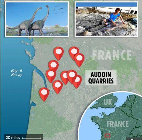 Charente là nơi rất nhiều hóa thạch của các loài khủng long được phát hiện