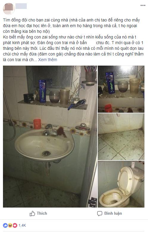Cô gái đăng ảnh nhà vệ sinh bạn cùng nhà siêu ở bẩn khiến dân tình rào rào.