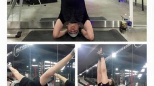 Ngoài học múa cột, Minh Trung còn học yoga và thường xuyên tập gym để duy trì vóc dáng.